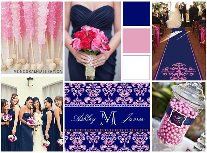 10 best images about my dream wedding on pinterest for Navy blue and pink wedding