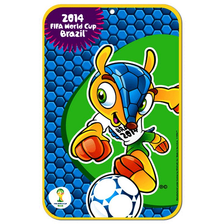 """FIFA 2014 World Cup 11"""" x 17"""" Fuleco Sign - $7.59"""