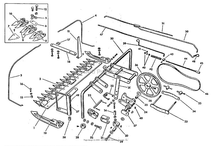 "Simplicity Model B - Model B, 1-1/2HP Garden Tractor Parts Diagram for Sickle Bar Group - 30"" (3736I05)"
