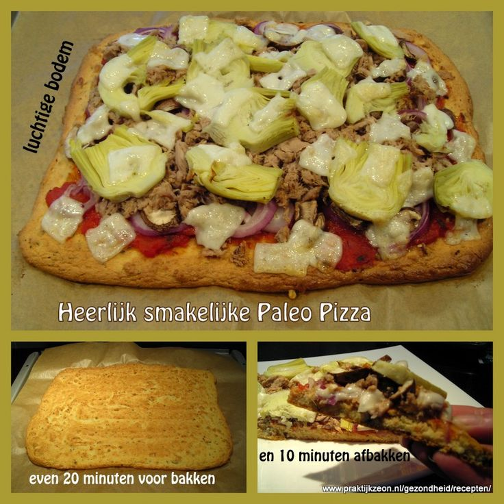 Paleo pizza bodem zonder uitrollen