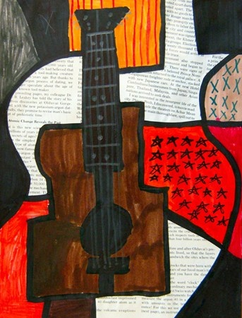 Artsonia Art Museum :: Artwork by Elliot173  picasso guitars