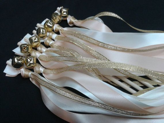 125 Triple wedding wands as shown on the picture Metallic gold, Blush