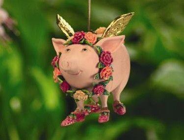 Krinkles por Patience Brewster, Rose Ornament Porco Voador