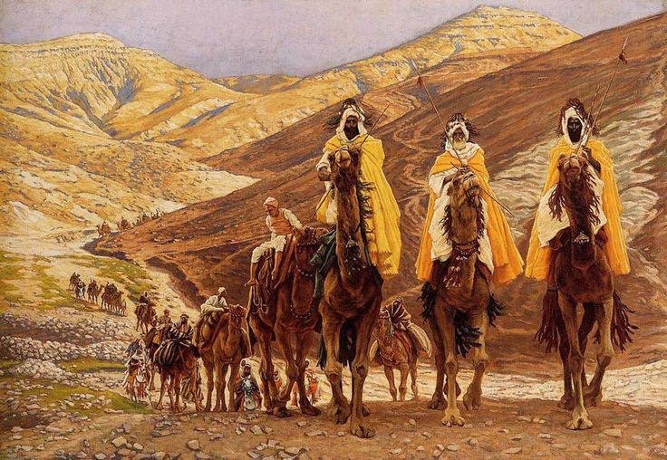 The Magi Journeying (Les rois mages en   voyage) James Tissot -  Brooklyn Museum