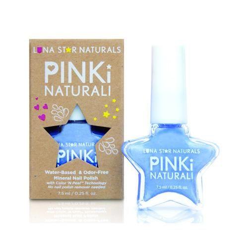 Lunastar Pinki Naturali Nail Polish Little Rock (powder Blue) .25 Fl Oz