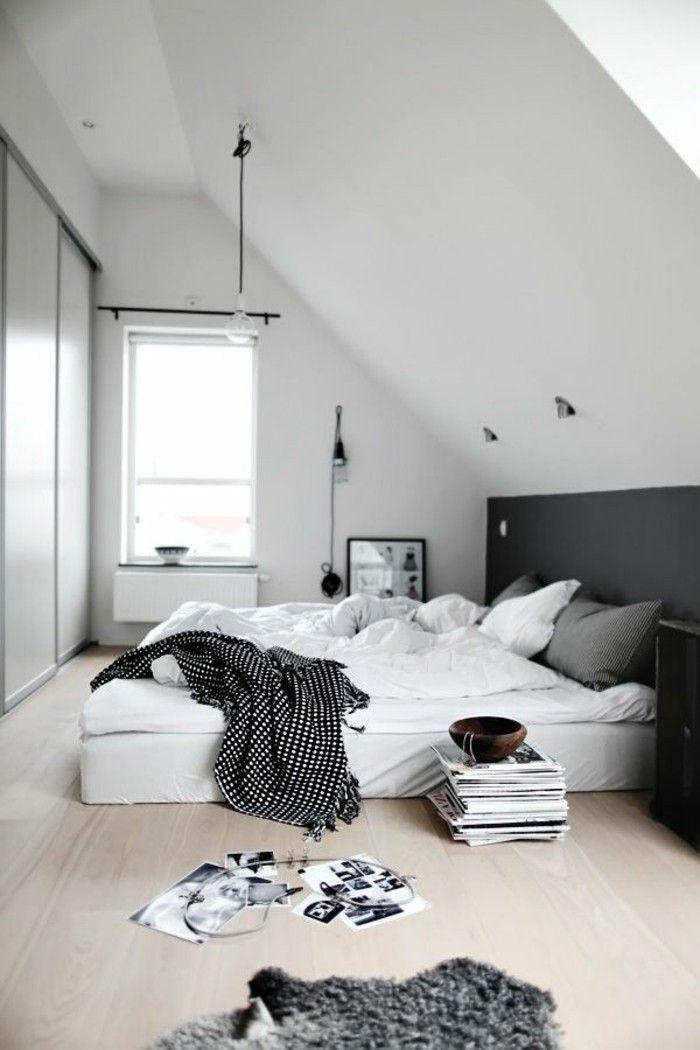 Bright bedroom In Scandinavian design