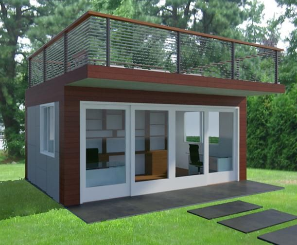 Close Door - Architectural Concept Design For Comfortable Office Greening Area Backyard