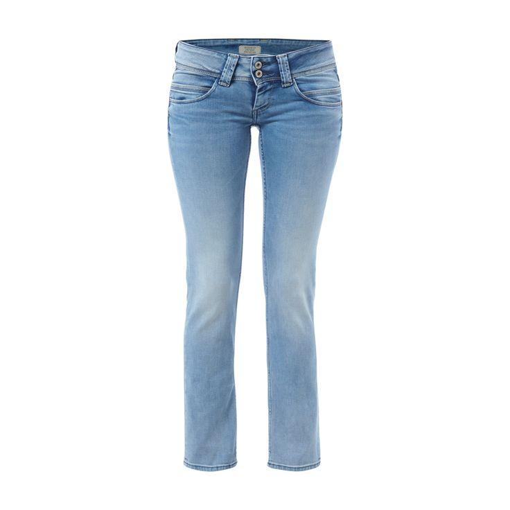 #Pepe #Jeans #Regular #Fit #Stone #Washed #Jeans für #Damen - Damen-5-Pocket-Jeans von Pepe Jeans, Baumwollmischung mit Stretch-Anteil, Stone Washed, Regular Fit, 2-Knopf- und Reißverschluss, Gürtelschlaufen am Bund, Eine zusätzliche Münztasche, Zwei zusätzliche Gesäßtaschen, Innenbeinlänge bei Größe 27/30: 72 cm, Bundweite bei Größe 27/30: 76 cm
