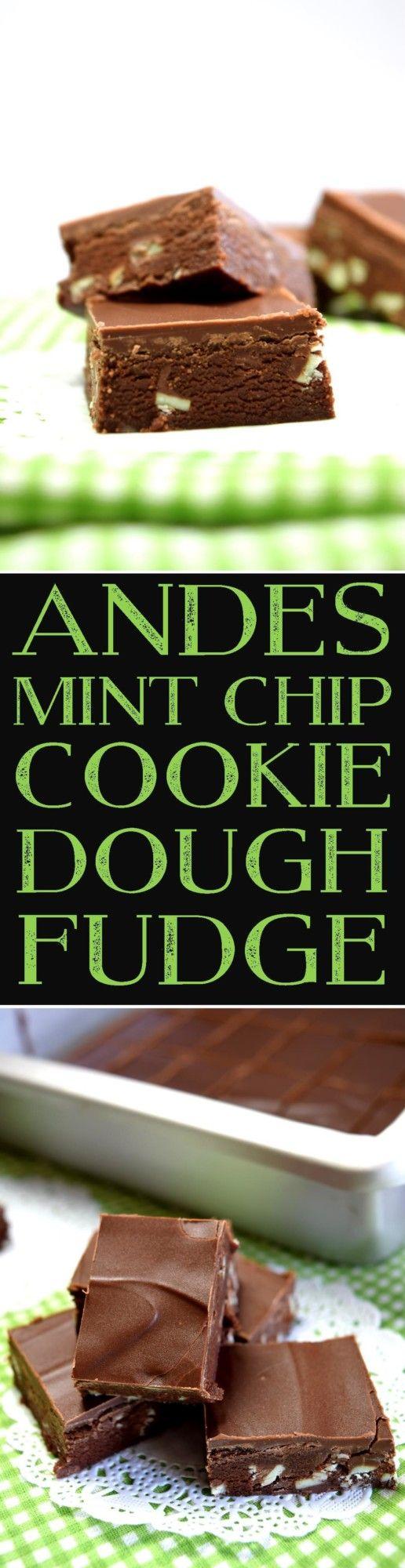 Andes Mint Chip Cookie Dough Fudge