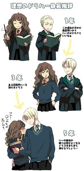 Draco and Hermione in all of their love/hate glory.