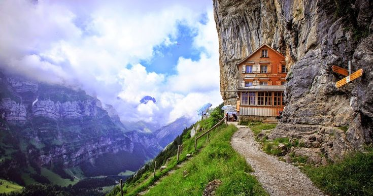 Enjoy the Beauty of Aescher Hotel in Switzerland  Travelers and tourists are always busy to find the most beautiful places of the world and the most charming sights. If you are one of these people, Aescher Hotel of Switzerland is beckoning you to show the beauty of it and its surroundings.