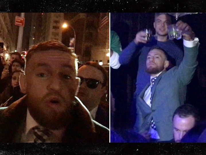 Conor McGregor, Most Famous Irishman Parties Hard on St. Patrick's Day (VIDEO)