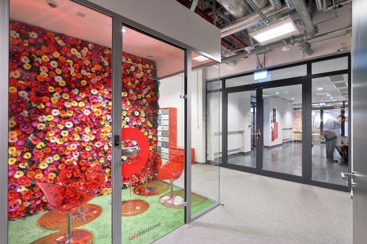 Dream office,Flowers Conference Room, Stadion narodowy ,grass in office, meeting room
