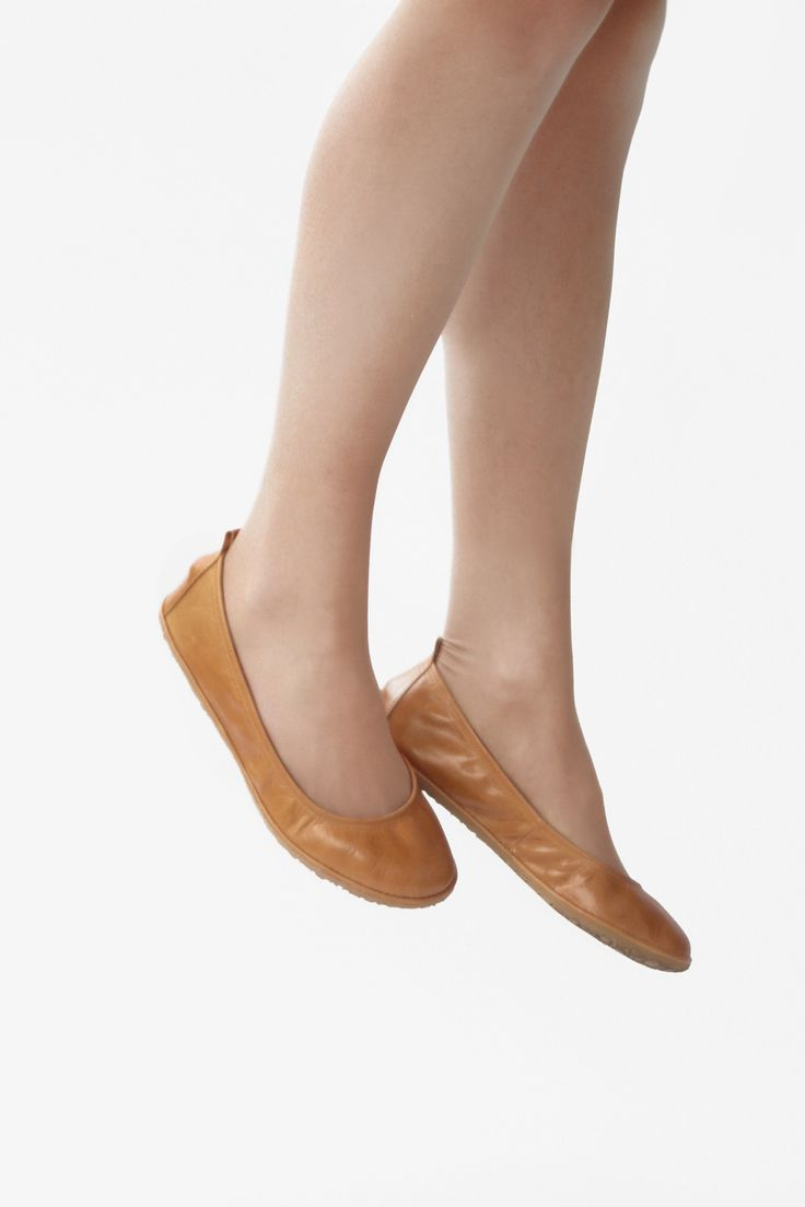 The Drifter Leather handmade shoes — Ballet flats - Eko in Glorious Wheat