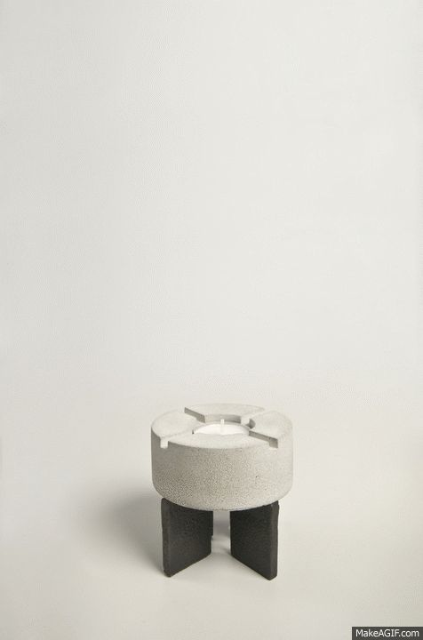 Candle Holder, Iron and Concrete. Inspired by Erno Goldfingers brutalist Architecture