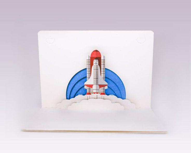 NO LIMIT felicitare-3d-naveta-spatiala