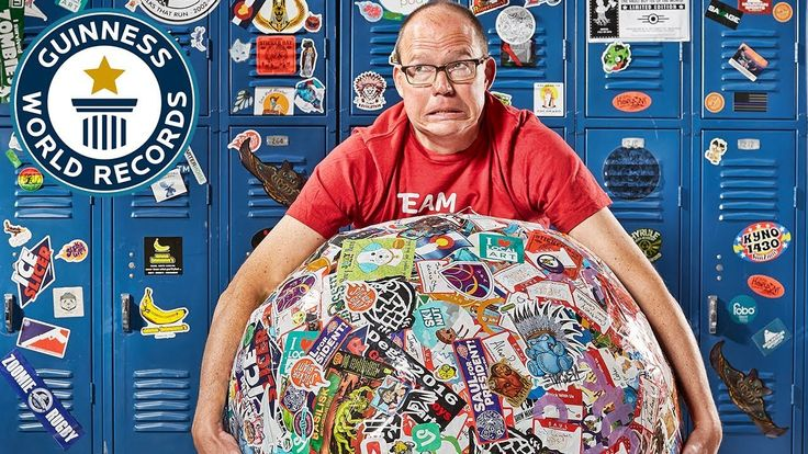awesome Laughing Squid Sticker Printer StickerGiant Sets Guinness World Record for Largest Ball of Stickers
