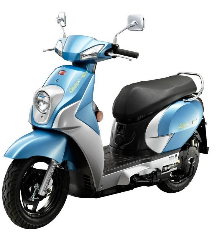 eQueen, een elektrische scooter van Kymco
