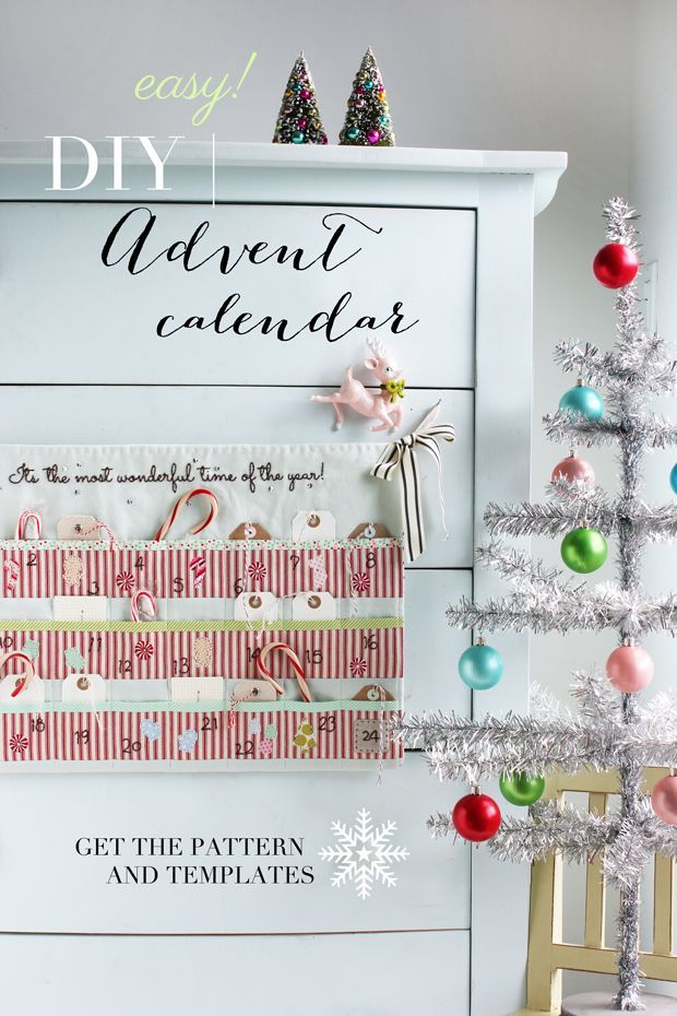Make your own advent calendar this year. This easy DIY tutorial gives you all the patterns and templates you need. Holiday crafting helps us get in the spirit! http://www.ehow.com/ehow-crafts/blog/easy-diy-advent-calendar/?utm_source=pinterest&utm_medium=fanpage&utm_content=blog