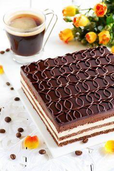 """ТОРТ. Торт """"Опера"""" Chocolate and coffee cake """"Opera""""."""