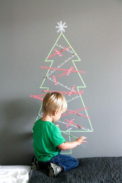 Arbol de Navidad de washi tape