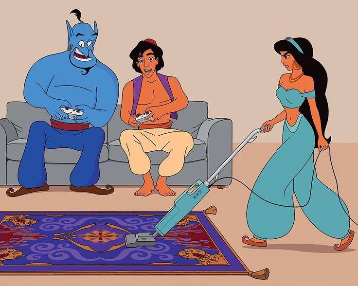 Il met en scène les personnages Disney dans notre société (avec ses problèmes)