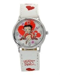 BETTY BOOP WATCH - I now have over 20 in my collection. 9 are these large faced ones. The others are teen bands since my wrists are so small