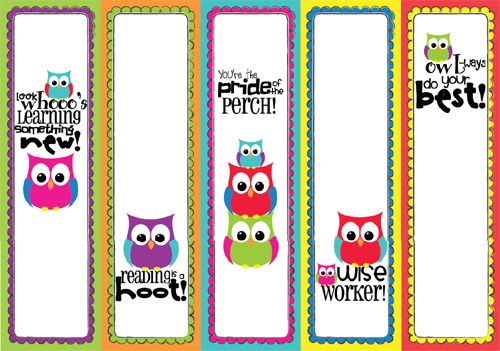 More ideas for my owl themed classroom this year! Hoot! Hoot!