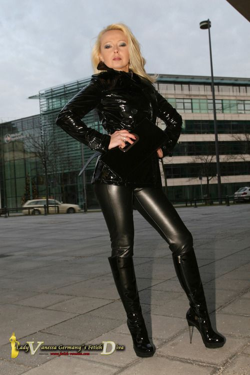 Fetish lady in leather and lack   Fetish Vanessa   Pinterest