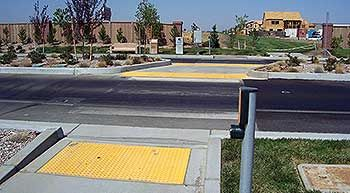 Upgradable Systems Provide Long-Term Safety - The City of Woodland installed TSC system at a popular neighborhood park in 2007. After learning more housing was planned for development at the site, city officials decided to add beacons to address anticipated increases in pedestrian traffic. | Street Safety News | Traffic Safety Corp. | #walking #walkability #urbandesign #LEDlighting #visionzero