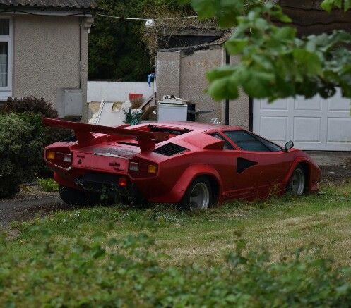 Sad Looking Abandoned Lamborghini Countach More