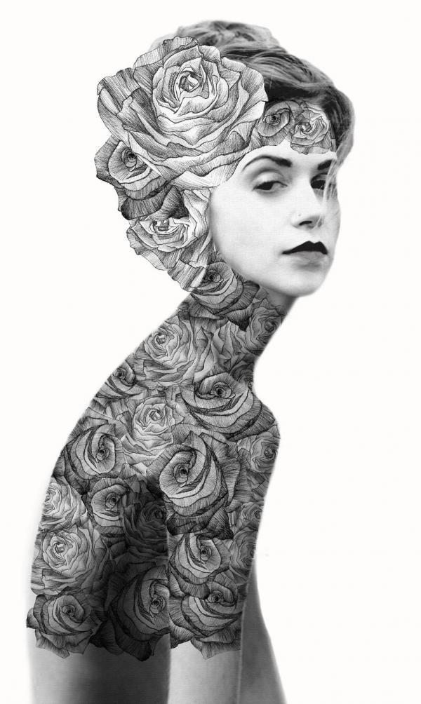 Arte exótico con mujeres.   Quiero más diseño
