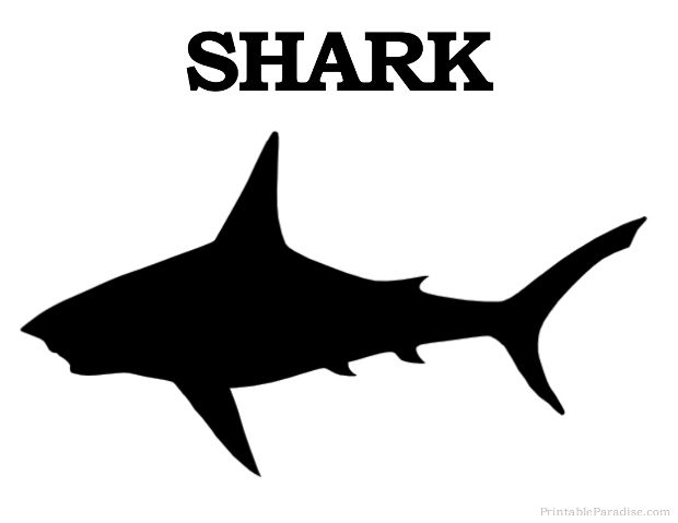 Print Free Shark Silhouette