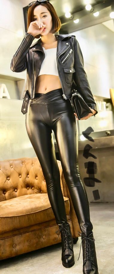 2ab81cbec1f296 Pin by Rahaman Holley on Black Leather Jacket Girls in 2019 | Leather pants,  Leather, Leather leggings