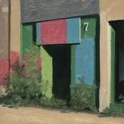 Blue Spruce Studio  Postcards from Detroit  Image of Michigan Ave Doorway: Oil Paintings, Ave Doorway, Spruce Studios, Artists Stephen, Artists Work, Work Painters, Studios Postcards, Michigan Ave