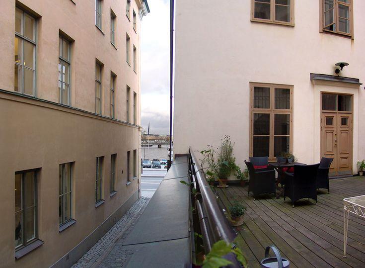 Terrassen på plan ett i Bootes 4, Telegrafgränd 1 A.