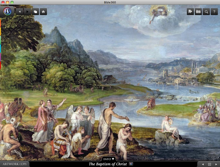The Baptism of Christ. Bible360 is a free interactive socially-enabled app that brings the scripture to life through video, photos, maps, virtual tours, reading plans and more! Download it for FREE, www.bible360.com