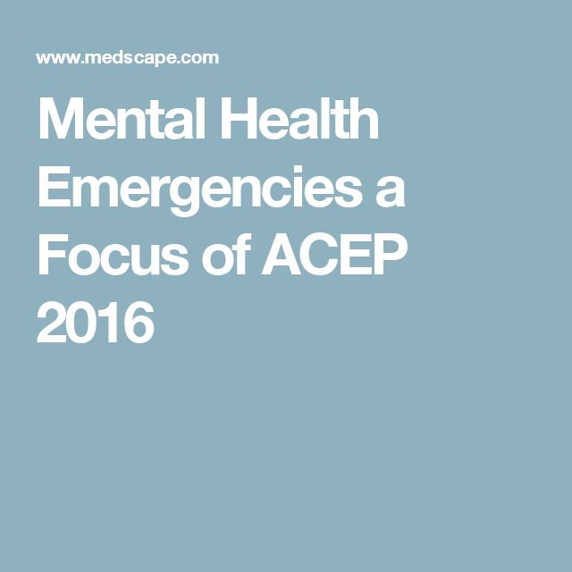 Mental Health Emergencies a Focus of ACEP 2016