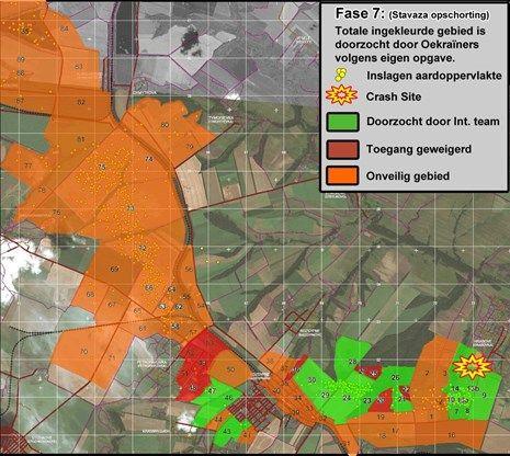 Groot deel rampgebied MH17 niet onderzocht
