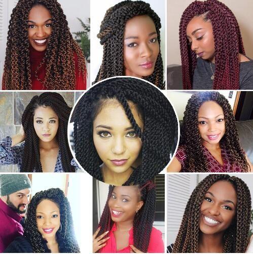 Fashion Crochet Braids Havana Mambo Twist Crochet Senegalese Kinky Twist Hair 120g/Pack 3D Cubic Twist Crochet Hair Braiding