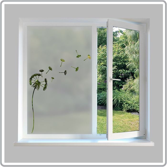 Nature inspired etch glass window film designs
