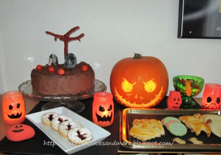 Cakes, Cookies and more: Halloween; Dessertbuffet