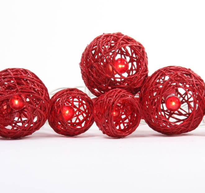Rouge Living String Lighting Cane Ball Rouge