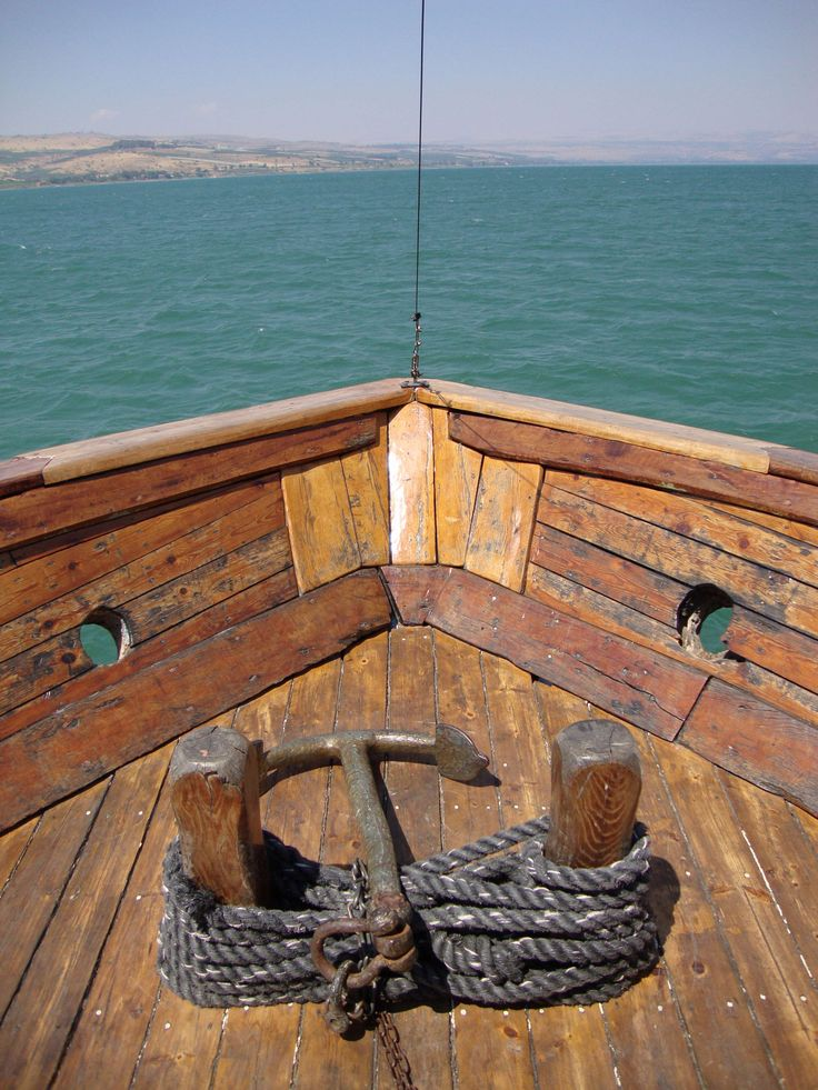 Sea Of Galilee, Israel...I have boated on the The Sea Of Galilee and it is very surprisingly small, the four banks of the Sea can be seen all at the same time