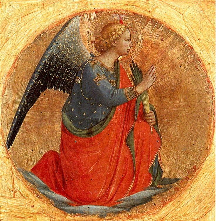 Perugia Triptych: Angel of the Annunciation by Fra Angelico