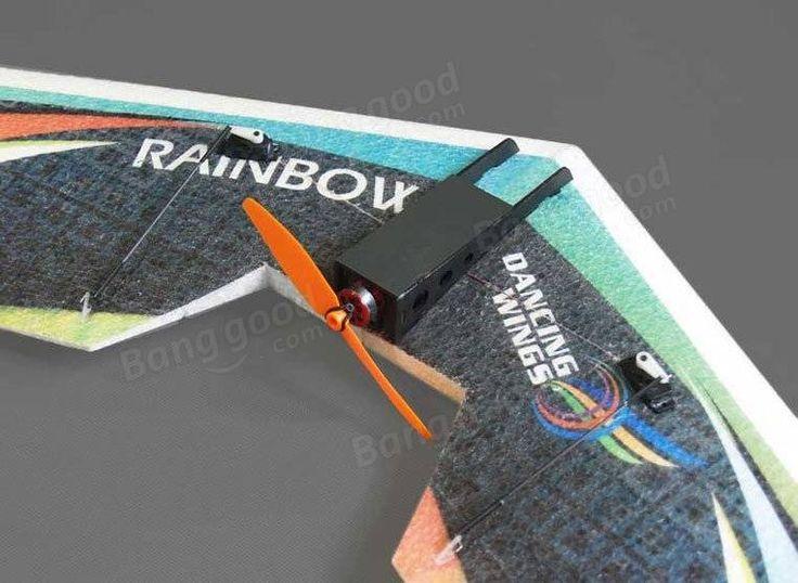 DW HOBBY Rainbow 800mm Wingspan EPP Flying Wing RC Airplane KIT Sale…