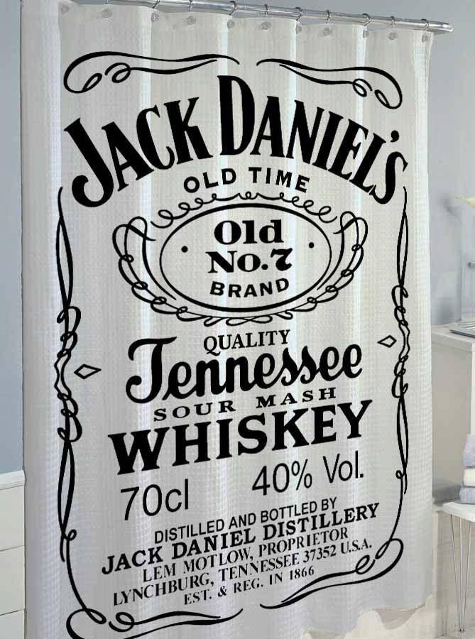 jack daniels shower curtain by cutshowercurtain on Etsy, $36.50