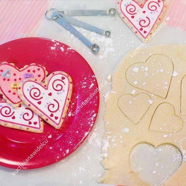 ❤ Upominek na walentynki #5 - ciasteczka w kształcie serduszek