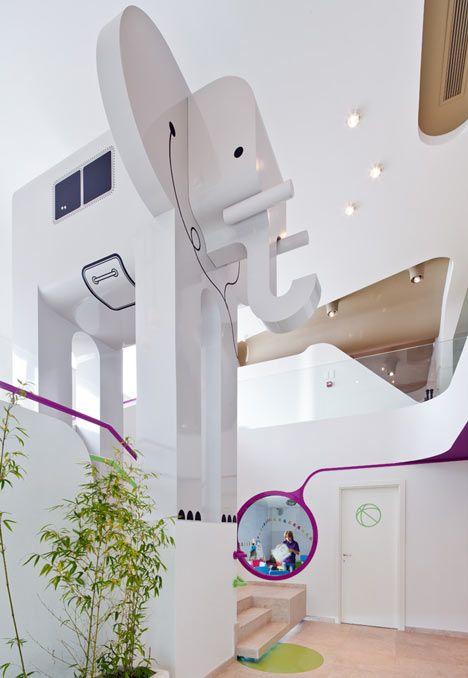 restaurant for kids in belgium: Interior Design, Nuca Studio, Playground, Studios, Elephant, Kids Room, Space, Restaurant