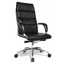 Topstar Chairman 50, Luxe bureaustoel. Nappaleder zwart A80